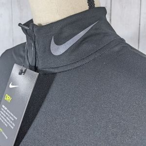 NEW NIKE running black half zip long sleeve sweate